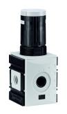 Präzisions-Druckregelventil  mit durchgehender Druckversorg. G 1/4 - G 1/2